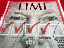 Le Président Donald Trump Signé En 2016- Time Magazine! Jsa Loa
