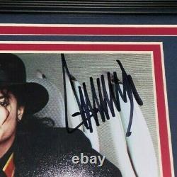 Le Président Donald Trump Signé Framed 8x10 Photo Avec Michael Jackson Proof Jsa