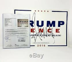 Le Président Donald Trump Signé Maga Rallye Campagne Poster Authentique Et Certifié