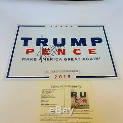 Le Président Donald Trump Signé Make America Great Encore Une Fois La Campagne Poster Jsa Coa
