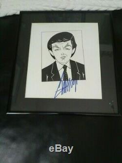 Le Président Donald Trump Signé Pièce D'art Unique Avec Autograph Coa De L'artiste