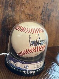 Le Président Donald Trump Signé Rawlings Baseball Bas Encapsulé Rare Sweet Spot