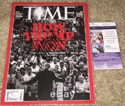 Le Président Donald Trump Signé Time Magazine Maga Potus 2016 Gop Républicain Jsa