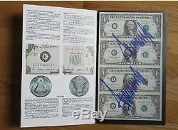 Le Président Donald Trump Signé Uncut Argent Psa Autographié Deux Fois (maga)