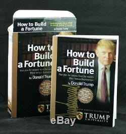 Le Président Donald Trump Signée Autographiés Comment Construire Une Université DVD Fortune