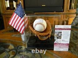 Le Président Donald Trump Single Signé 2001 W. S. Baseball Jsa Coa Autographié Auto