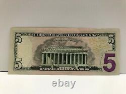 Le Président Donald Trump-signé À La Main Five Dollar Bill