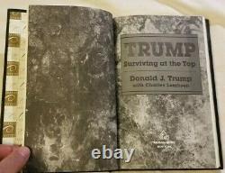 Le Président Du Livre Autographié Donald Trump Survivant Au Sommet N ° 164 De 500 Rares