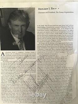 Le Président Trumps Autographe À Jason Mcelwain, J-mac, Le Garçon Autiste Connu Dans Le Monde