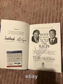 Livre Dédicacé De Donald Trump Avec Coa Psa/dna