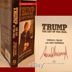 Livre Du Livre Des Transactions Autographie Signé Par Le Président Donald Trump Hot