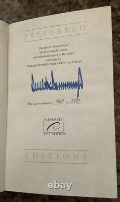 Livre Numéroté Autographe Signé # 190 Président Donald Trump Survue À La Top