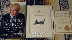 Livre Signé Donald Trump, Infirme En Amérique: Comment Faire Une Grande Merveille 1/1 Hc Coa