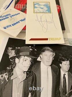 Michael Jackson Signe Donald Trump Carte De Sécurité