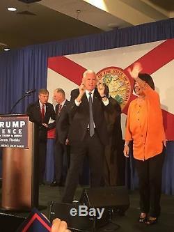 Mike Pence Indiana Gouverneur Vp Photo Dédicacée Président Donald Trump 2016 Élection