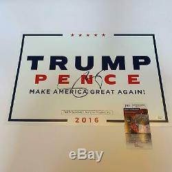 Mike Pence Signé Président Donald Trump Originale 2016 Campagne Signé Jsa Coa