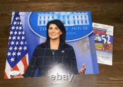 Nikki Haley A Signé 8x10 Photo Avec Jsa Cert Ambassadeur Des Nations Unies Donald Trump 2024
