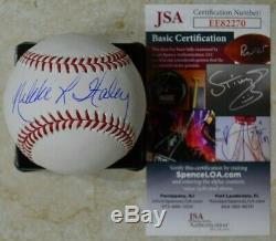 Nikki Haley Signé Omlb Baseball Avec Jsa Coa # Ee82270 L'ambassadeur Donald Trump