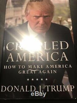 Numéroté Président Signé Donald J. 1765 Trump Crippled America Encore Une Fois Faites De Bonnes Affaires