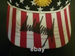 Officiel Donald Trump Autographié Freedom Hat 2020