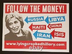 Officiel Donald Trump Suivez The Money Signe De Yard 2016 Clinton Election Maga 2020