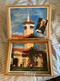 One Of A Kind Donald Trump Autographié Mar-a-lago Commemorative Cigar Box Maga