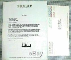 Original 2011 Donald Trump Lettre Signée Discutant Présidentielle W Run Enveloppe