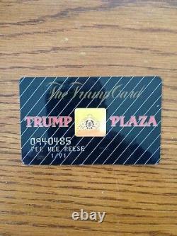 Pee Wee Reese Signé Trump Casino Carte Brooklyn Dodgers Hof Autograph 1/1 Coa