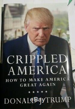 Personnellement Signé Crippled Amérique Authentique Autograph Président Donald Trump