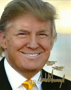 Photo Originale 8x10 Signée Donald Trump Meilleurs Voeux 45 President