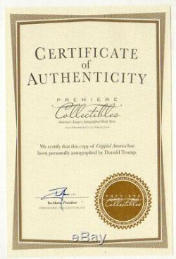 Pièce Mat Autographiée Par Donald Trump! Président! Maga! Editeur Certifié! Coa
