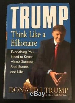 Piste Signée Autographie Penser Comme Un Milliardaire Donald Trump Coa Free Ship $