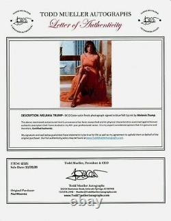 Première Dame Melania Trump Autographe 8x10 Couleur Photo Flotus Avec Loa
