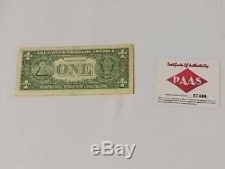 Président Atout Autographed Signe Donald Us Dollar Bill Coa Authenticated