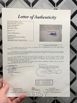 Président Atout Contrat Signé Donald Trump Parc Autograph Jsa + Bas Loa