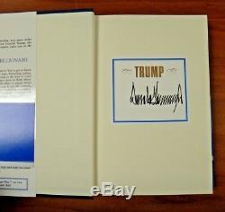 Président Des États-unis Donald J. Trump Signed Edition Collector Book