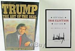 Président Donald J. Trump Signé Autographé Livre De L'art Du Deal Nice
