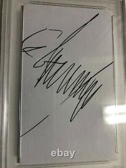 Président Donald Trump Autographe 3x5 Carte D'index Psa / Adn Certifié Authentique
