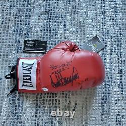 Président Donald Trump Autographié Signé Everlast Boxing Glove Coa