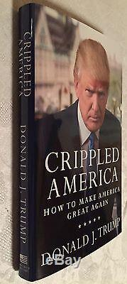 Président Donald Trump Crippled America # Signé 63 Bas Nombre Numéroté Authentique