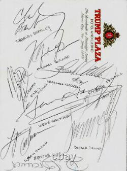 Président Donald Trump & Michael Jordan Signé + 9 Autographes Celebrity (jsa)