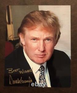 Président Donald Trump Original Autographié 8x10 Photo