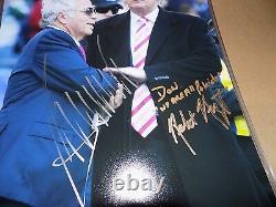President Donald Trump & Robert Kraft New England Patriots Owner Signed Photo