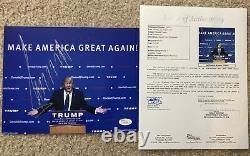 Président Donald Trump Signé 8x10 Photo Potus États-unis 2020 Amérique Jsa