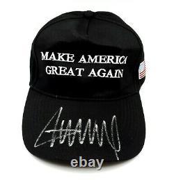 Président Donald Trump Signé À La Main Noir Autographié Faire L'amérique Grand Chapeau Coa