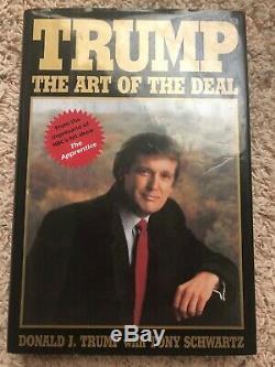 Président Donald Trump Signé Art Of The Deal Book Auto Réel Jsa Lettre Pleine Coa