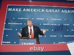 Président Donald Trump Signé Auto Matted/framed 14x20 Maga Rallye Photo Psa/adn