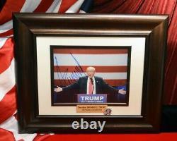 Président Donald Trump Signé Autographe, Coa Uacc Psa/adn Garanti, Cadre, Hat