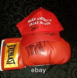 Président Donald Trump Signé Gant De Boxe Stormy Daniels Signé Maga Hat