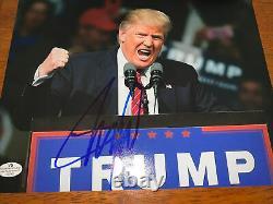 Président Donald Trump Signée À La Main Autographié 8x10 Image Photo W Coa